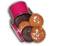 Bügelverschlussdose in Pink, gefüllt mit Elisen-Lebkuchen