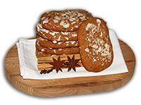 Elisen-Lebkuchen, auf Oblaten gebacken, in Großpackung