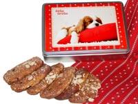 Geschenkidee für Hundefreunde: Lebkuchendose gefüllt mit Ischler Elisen-Lebkuchen