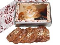 Geschenkidee für Katzenfreunde: Lebkuchendose gefüllt mit Ischler Elisen-Lebkuchen