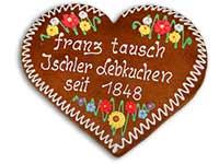 Traditionell beschriftetes Lebkuchenherz
