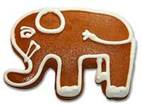 Lebkuchen-Elefant