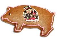 Glücksschweinchen aus traditionellen Lebkuchen