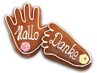 Set: Lebkuchen-Händchen für Füßchen