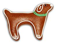 Lebkuchen-Hund