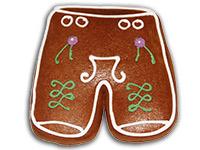 Eine Geschenkidee aus dem Hause Franz Tausch, Ischler Lebkuchen: Lebkuchen-Lederhose