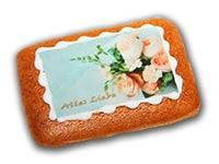"""Lebkuchen-Bild """"Alles Liebe"""""""