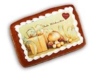 """Lebkuchen-Bild """"Frohe Weihnachten"""""""