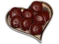 Ischler Lebkuchen: Lebkuchenbusserl mit Schokoladenüberzug
