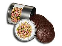 """Lebkuchendose """"Blumenstrauss"""", gefüllt mit Schoko-Elisen"""