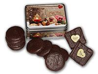Lebkuchendose für Weihnachten im Schokoladen-Lebkuchen