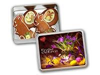 Lebkuchendose mit Osterfiguren