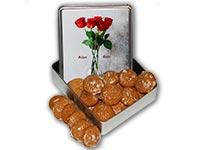 "Lebkuchendose ""Rote Rosen"""