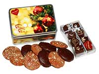 Weihnachts-Lebkuchendose mit Ischler Lebkuchen