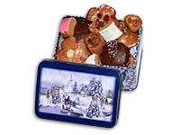 """Lebkuchendose """"Winterlandschaft"""" gefüllt mit Lebkuchen-Allerlei"""