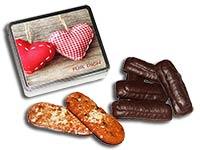 Lebkuchendose mit 2 Herzen