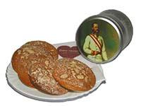 Geschenkidee für Freunde der Monarchie: Lebkuchendose mit einem Bild von Kaiser Franz Josef I.