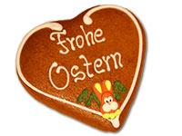 Lebkuchenherz für Ostern