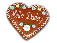 "Lebkuchenherz ""Hello Daddy"""
