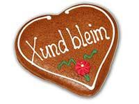 """Lebkuchenherz """"Xund bleim"""""""
