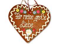 Lebkuchenherz: Für meine große Liebe