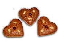 Ischler Lebkuchenherzerl mit Mandeln und Kirsche im 3er-Pack