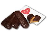 Powidlstangerl: Ischler Lekbuchen mit Powidlfüllung und Schokoladenüberzug