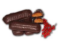 Ribiselstangerl: Ischler Lebkuchen mit Ribiselmark und Schokoladenüberzug