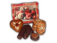 Rosendose, gefüllt mit Ischler Lebkuchen