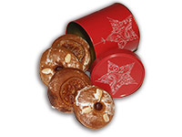 Rote Sternendose mit Lebkuchenradln