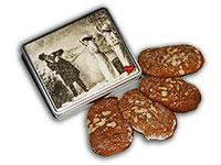 """Vintage Lebkuchendose """"Schneeballschlacht"""""""
