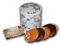 Vogerldose mit Elisenlebkuchen und Lebkuchenschokolade