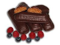 Lebkuchen, Konfitüre und Zartbitterschokolade - zusammen ein Genuß!